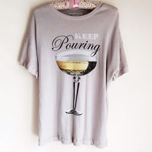 NWOT🥂 Wildfox Keep Pouring Tee